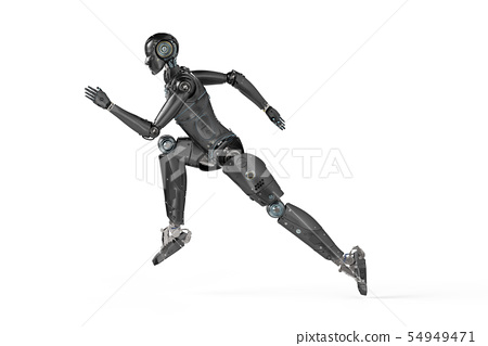robot jumping or running 54949471