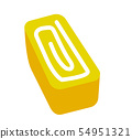 A side dish illustration of a bento (egg omelet) 54951321
