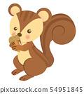 Squirrel with acorn 54951845