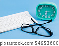 計劃外的圖像眼鏡時鐘鍵盤 54953600