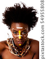 African Tribal beauty face 54955808