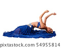 Belly dancer laying backwards 54955814