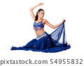 Belly dancer sitting 54955832