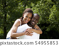 Happy smiling African couple 54955853