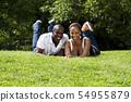 Happy African couple 54955879