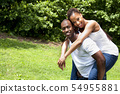Happy smiling African couple 54955881