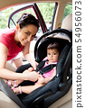 Baby in car seat for safety 54956073