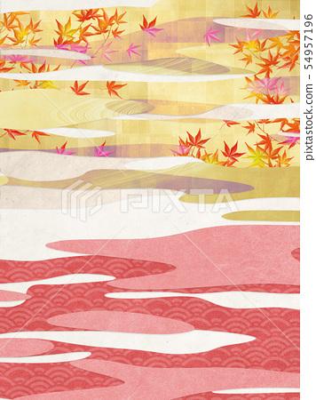 배경 소재 - 일본식 - 일본식 모던 - 금 - 단풍 - 가을 54957196