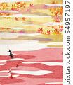 วัสดุพื้นหลัง - สไตล์ญี่ปุ่น - ญี่ปุ่นสมัยใหม่ - ทอง - ใบไม้ร่วง - ใบไม้ร่วง 54957197