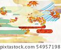 วัสดุพื้นหลัง - สไตล์ญี่ปุ่น - ญี่ปุ่นสมัยใหม่ - ทอง - ใบไม้ร่วง - ใบไม้ร่วง 54957198