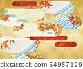 วัสดุพื้นหลัง - สไตล์ญี่ปุ่น - ญี่ปุ่นสมัยใหม่ - ทอง - ใบไม้ร่วง - ใบไม้ร่วง 54957199