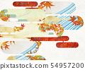 วัสดุพื้นหลัง - สไตล์ญี่ปุ่น - ญี่ปุ่นสมัยใหม่ - ทอง - ใบไม้ร่วง - ใบไม้ร่วง 54957200