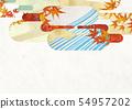 วัสดุพื้นหลัง - สไตล์ญี่ปุ่น - ญี่ปุ่นสมัยใหม่ - ทอง - ใบไม้ร่วง - ใบไม้ร่วง 54957202