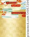 วัสดุพื้นหลัง - สไตล์ญี่ปุ่น - ญี่ปุ่นสมัยใหม่ - ทอง - ใบไม้ร่วง - ใบไม้ร่วง 54957204