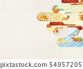 วัสดุพื้นหลัง - สไตล์ญี่ปุ่น - ญี่ปุ่นสมัยใหม่ - ทอง - ใบไม้ร่วง - ใบไม้ร่วง 54957205