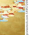 วัสดุพื้นหลัง - สไตล์ญี่ปุ่น - ญี่ปุ่นสมัยใหม่ - ทอง - ใบไม้ร่วง - ใบไม้ร่วง 54957209