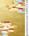 วัสดุพื้นหลัง - สไตล์ญี่ปุ่น - ญี่ปุ่นสมัยใหม่ - ทอง - ใบไม้ร่วง - ใบไม้ร่วง 54957210