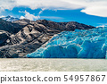 View of the beautiful Blue Iceberg of Glacier Grey 54957867
