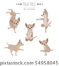 Yoga dogs poses and exercises. Chihuahua clipart 54958045