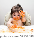 Happy funny messy eater 54958689