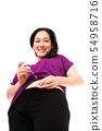 Diabetic woman injecting insulin 54958716