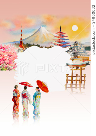 Travel landmarks famous of Japan in the Asian. 54960032