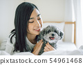 Life with a dog Woman 54961468