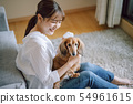 Life with a dog Woman 54961615