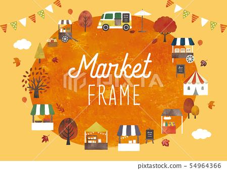 Autumn Marche Frame Oil On 54964366