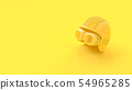 Minimal idea concept. Helmet yellow color. 54965285