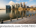 Singapore business district with skyscrapers, 54967893