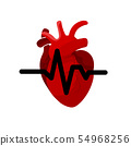 Medical concept of heart organ with tubes and 54968256