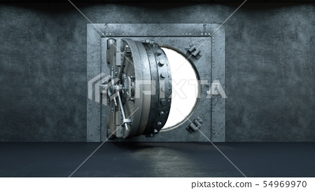 3d render Opening Of The Vault Door In Bank 54969970