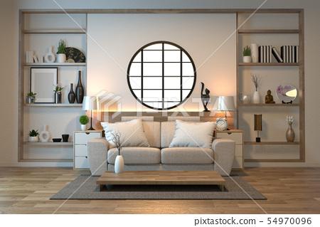 minimal interior design room zen style with sofa, 54970096