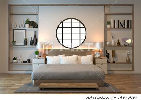 minimal interior design room zen style with sofa, 54970097