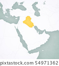 Map of Middle East - Iraq 54971362