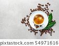 Cup of fresh made coffee served in cup 54971616