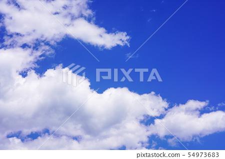 天藍色的天空雲 54973683
