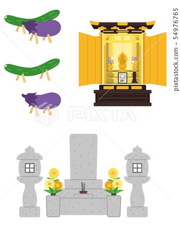 常見的石頭和佛壇和精神馬 54976765