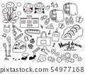 手繪風格插圖集材料線繪圖<小學入學> 54977168