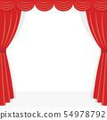 紅色舞台幕布框架 54978792
