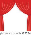 紅色舞台幕布框架 54978794