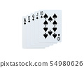 Poker spades of 10 J Q K A playing cards isolated 54980626