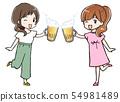 女人的情侶敬酒 54981489