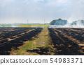 Fire burning dry grass it danger for environment 54983371