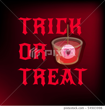 Halloween cocktail shot. Trick or treat. Vector banner template. 54983996