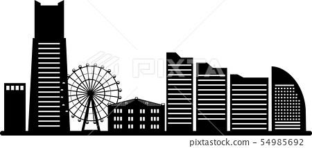 Yokohama Minato Mirai剪影(傳輸規格) 54985692