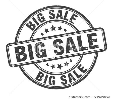 big sale stamp. big sale round grunge sign. big 54989058