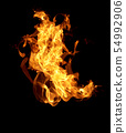 Fire flames on a black background 54992906