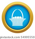 Easter basket icon blue vector isolated 54995550